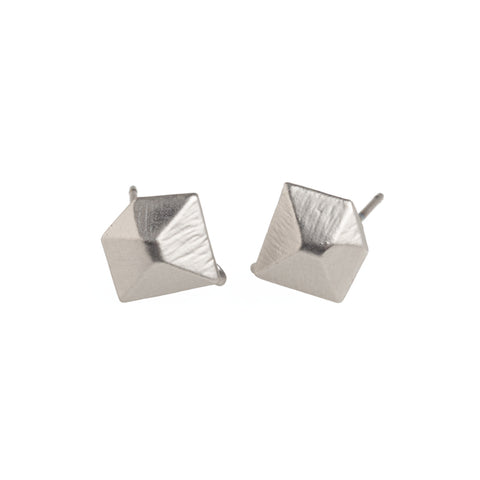 Silver Diamond Earrings - GEE510