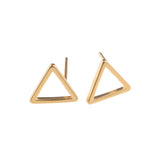 Gold Triangle Earrings - GEE514 - Harlow Jewelry - 1