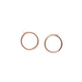 Rose Gold Circle Earrings - GEE516 - Harlow Jewelry - 1