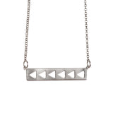 Silver Arrows Necklace - GEN503 - Harlow Jewelry - 1