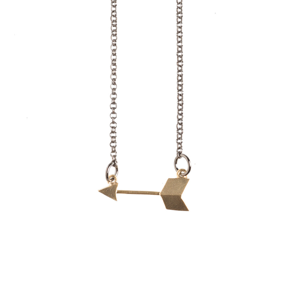 Golden Arrow Necklace - GEN504 - Harlow Jewelry - 1