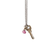 Tiny Key Necklace - GEN506 - Harlow Jewelry - 1