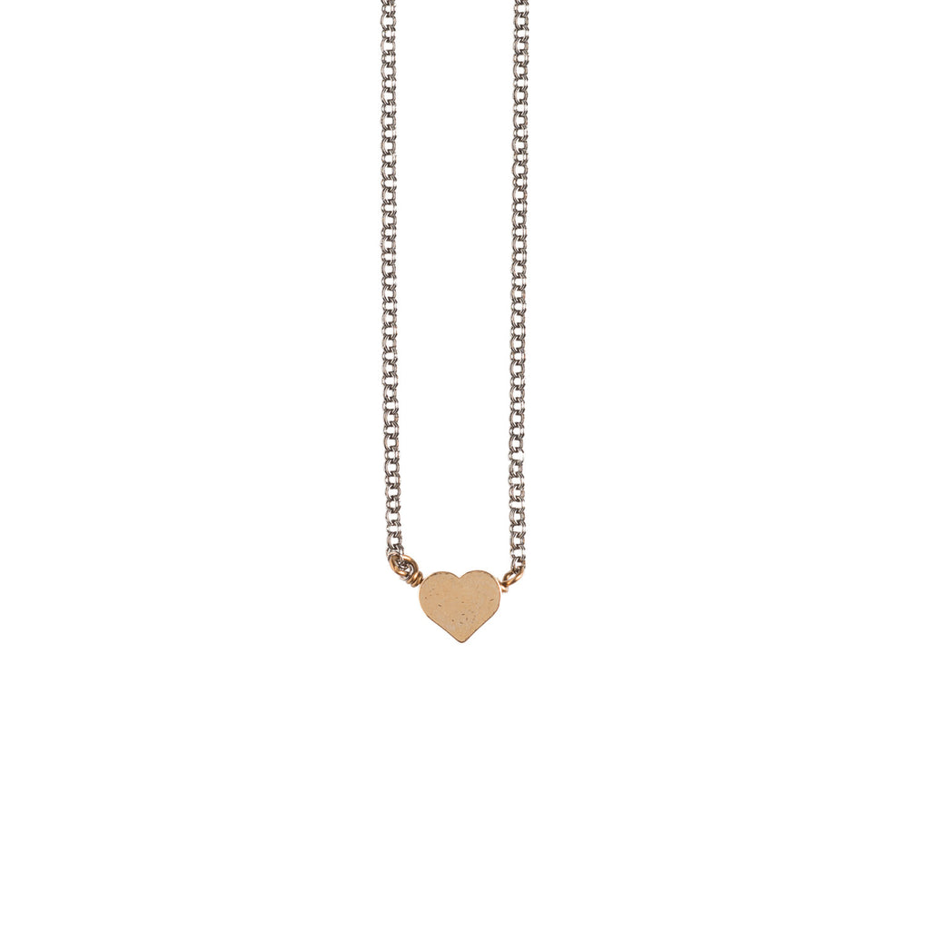 Tiny Heart Necklace - GEN509 - Harlow Jewelry - 1