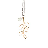 Gold Twig Necklace - GEN510 - Harlow Jewelry - 1