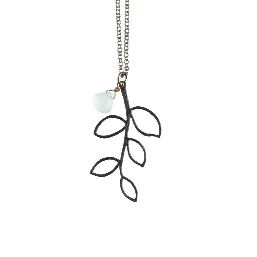 Black Twig Necklace - GEN511 - Harlow Jewelry - 1