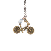 Bike Rider Necklace - GEN515 - Harlow Jewelry - 1