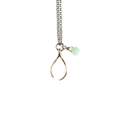 Gold Wishbone Necklace - GEN516 - Harlow Jewelry - 1