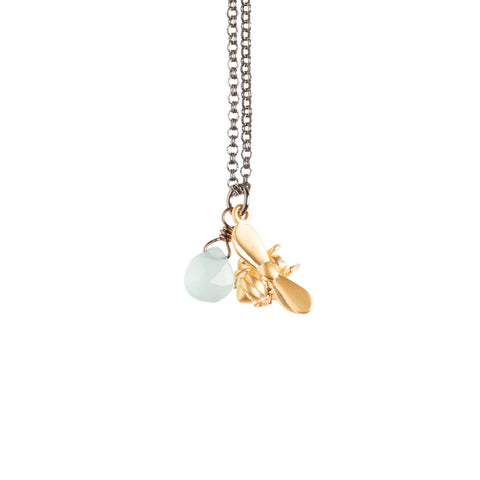 Tiny Gold Bird Necklace - GEN123