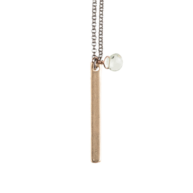 Gold Tag Necklace - GEN520 - Harlow Jewelry