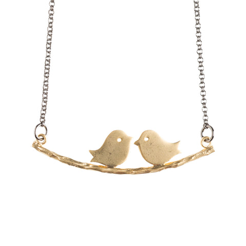 Lovebirds Gold Necklace - GEN523