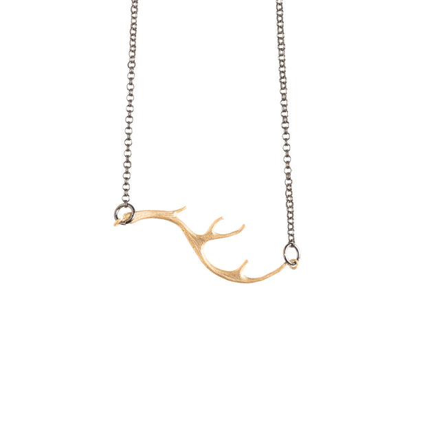 Gold Antler Necklace - GEN525 - Harlow Jewelry - 1