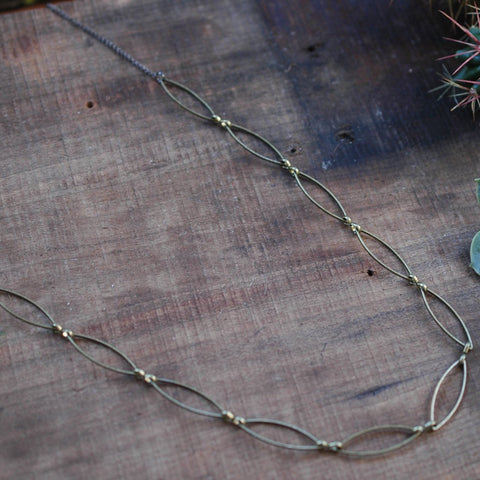 Delani Necklace - Rust