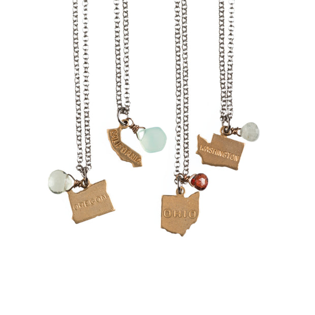 Tiny State Necklaces - Harlow Jewelry