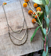 Large & Small V Necklace