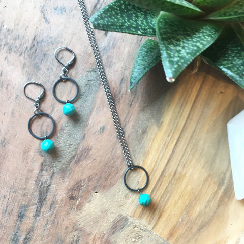 Ring and Turquoise Necklace - JHN20