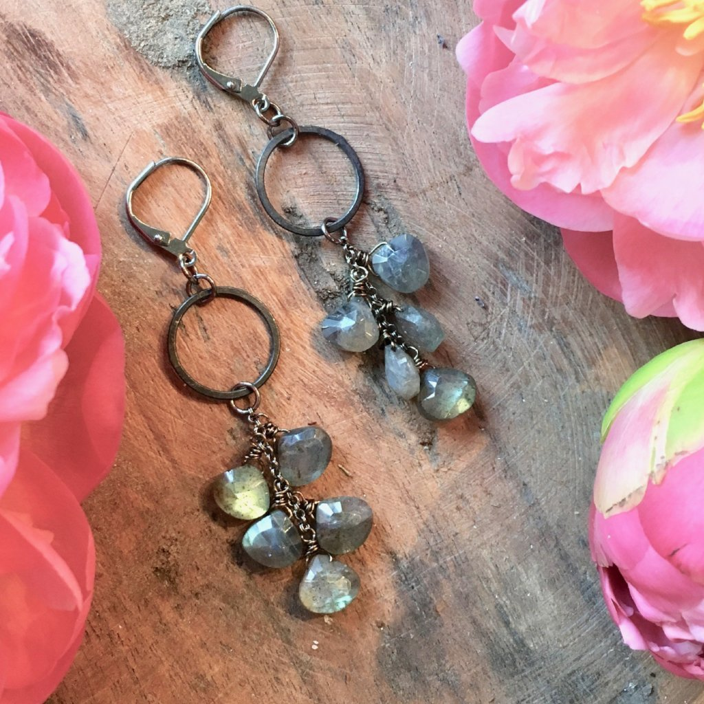 Labradorite Cascade Earrings harlow jewelry handmade earrings