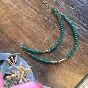 Mina Necklace - Green