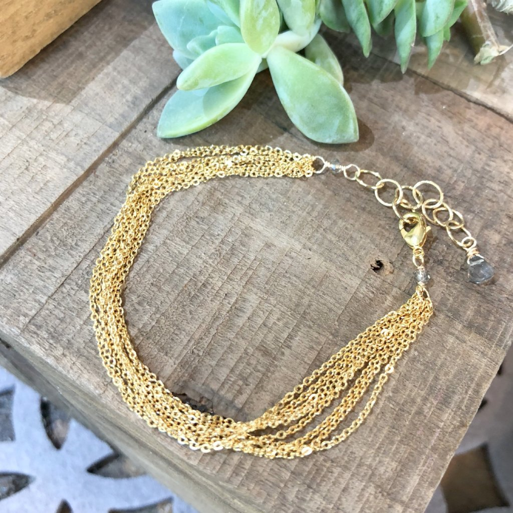 Gold Brass Chain Bracelet