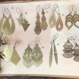 Large Brass Earring Pack - Wholesale Only