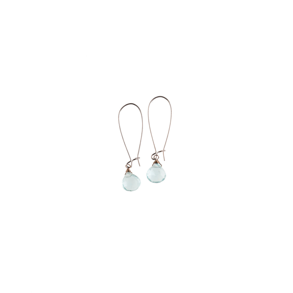 Single Aquaquartz Drops Earrings - NHE12 - Harlow Jewelry