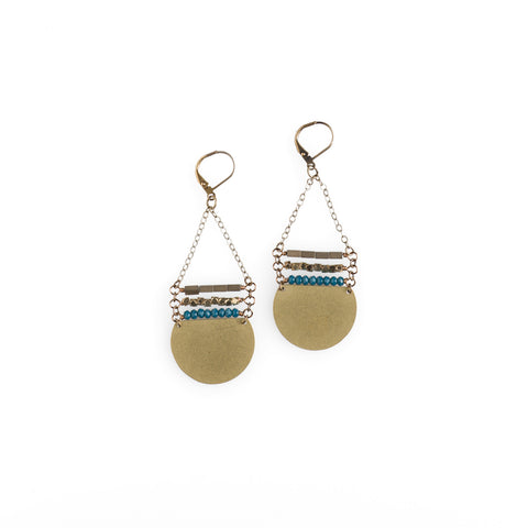 India Blue Crystal Stack Earrings - NHE13