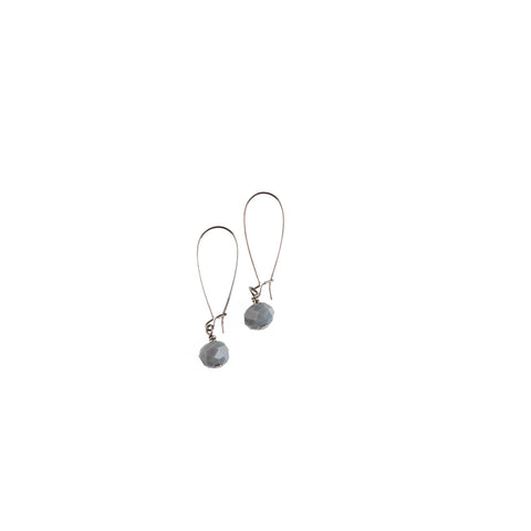 Single Spanish Gray Crystal Earrings - NHE38
