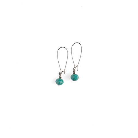 Single Persian Green Crystal Earrings - NHE49