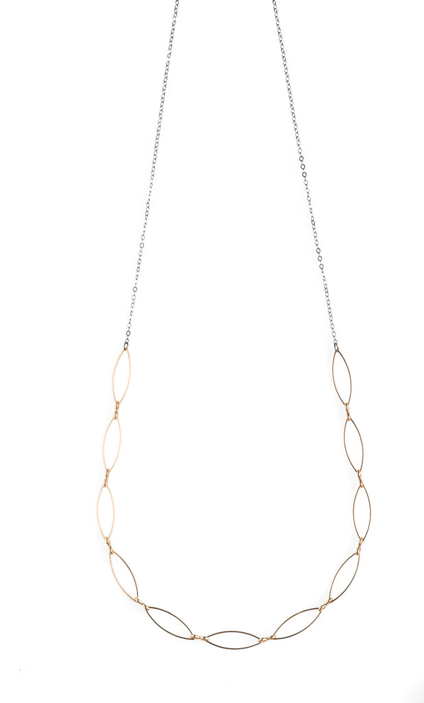 11 Gold Marquise Necklace - NHN21 - Harlow Jewelry
