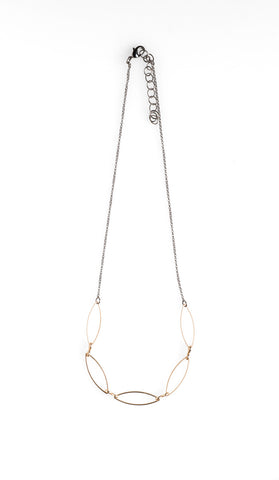 5 Gold Marquise Necklace - NHN22