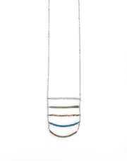 India Blue 5 Layer Long Stack Necklace  harlow jewelry handmade jewelry