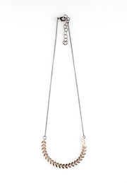 Delicate Fishbone Chain Necklace - NHN45 - Harlow Jewelry
