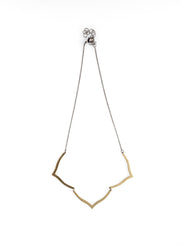 Brass Lotus Necklace - NHN47 - Harlow Jewelry
