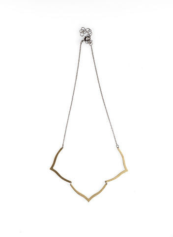 Brass Lotus Necklace - NHN47