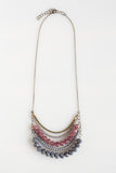 5 Layer Spanish Gray And Lilac Crystal Necklace - NHN55 - Harlow Jewelry