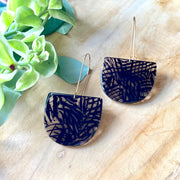 Andie Earrings - Black Stripe