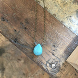 Hematite Arrow and Turquoise Necklace - JHN10