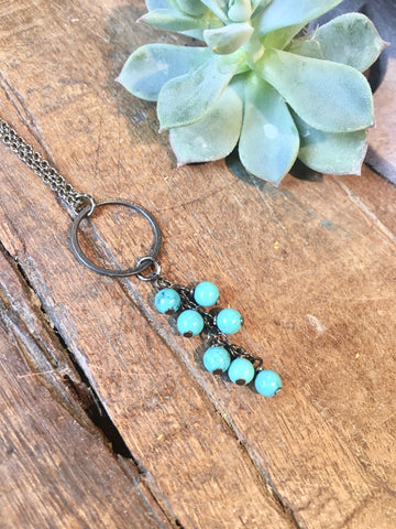 Turquoise Cascade Necklace - JHN18