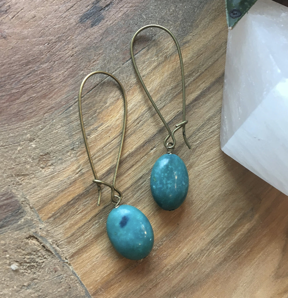 handmade earrings turquoise portland or harlow jewelry