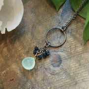 handmade chalcedony crystal necklace Harlow jewelry Portland or