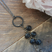Deep Ocean Quartz Cascade Necklace harlow jewelry handmade jewelry
