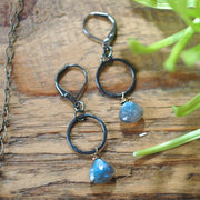 Etta Earrings - Labradorite