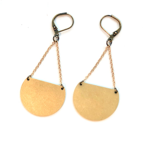 Half Moon Brass Earrings - JHE64