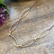 5 Gold Marquise Necklace
