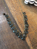 17 Deep Ocean Blue Quartz Necklace - JHN94