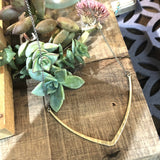 Brass Collarbone Pendant Necklace