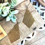 Patterned Brass Earrings