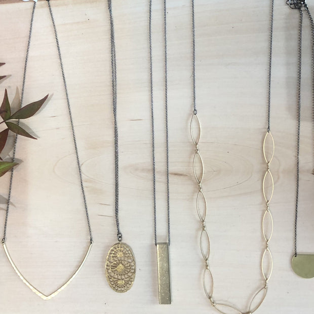 Brass Necklace Collection - Wholesale Only