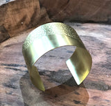 Brass Cuff Half Textured