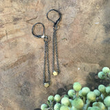 handmade brass earrings harlow jewelry Portland or