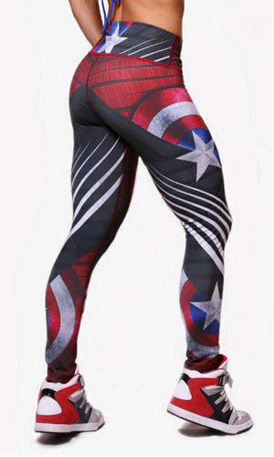 Superhero Leggings Large